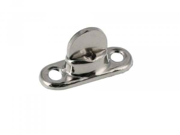 Twist swivel galvanized (base plate 2mm high) (twist lock) for hood or knee protection cover suitable for Duo 4/1