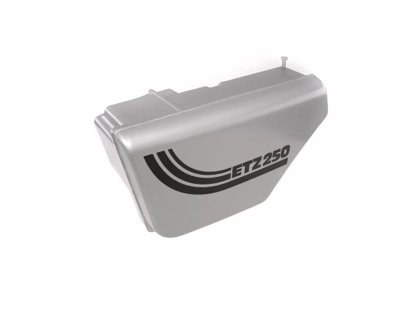 Housing - for intake silencer, metal-effect painted ETZ 250