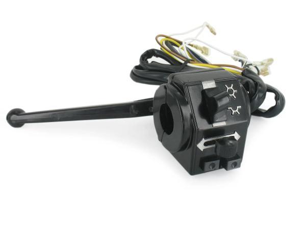 Schalterkombination, Gehäusehälfte hinten + vorn, mit Kabel - für Simson S51, S70, S53, S83