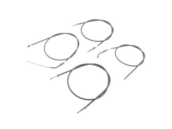 Bowdenzug-Set in Grau - für Simson SR2, SR2E (ab Fahrzg. 833190)