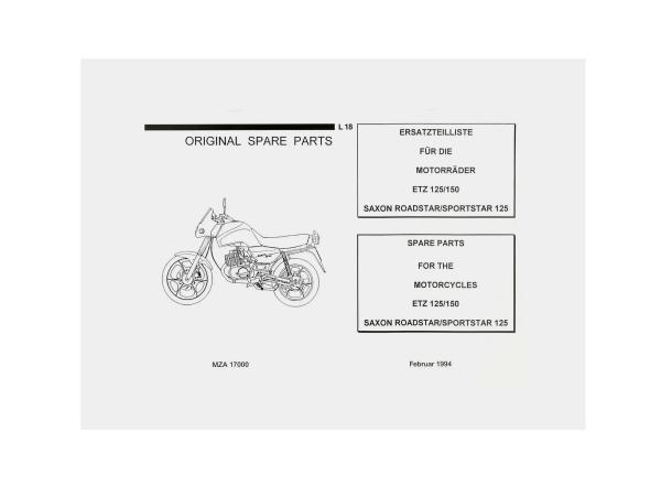 Ersatzteilkatalog - MZ ETZ 125, 150