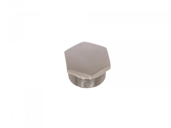 Screw plug for fork tube R35-3, chrome-plated, suitable for EMW