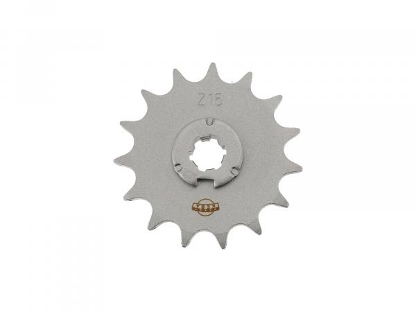 sprocket, small chain wheel, 15 tooth - Simson S50, KR51/1 Schwalbe, SR4-2 Star, SR4-3 Sperber, SR4-4 Habicht