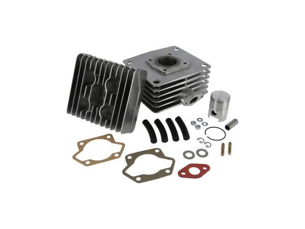 10068943 Set: Zylinder bearbeitet 50ccm + Zylinderkopf bearbeitet + Kolben nachgedreht, 50ccm - für Simson S51, SR50 - Bild 1