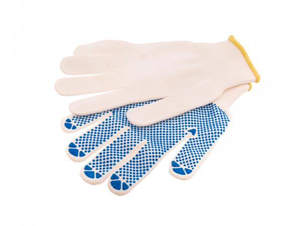1 pair of working gloves size 08, textile with studs