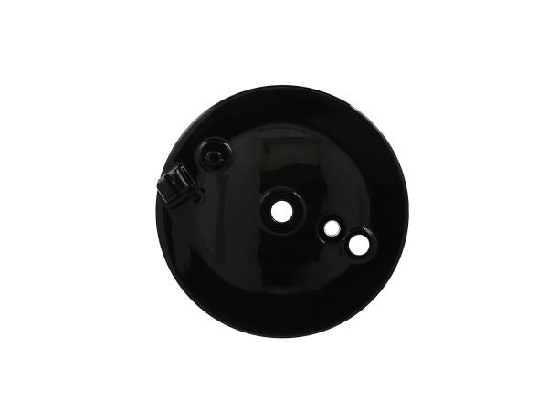 10069536 Bremsschild hinten, schwarz PPB, mit Loch f. Bremskontakt - Simson S50, S51, S70, KR51/2 Schwalbe - Bild 1