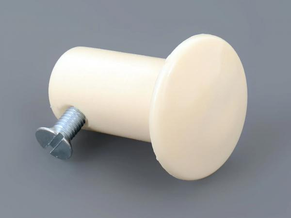 End plug ivory long (plastic) screwable for handlebar - for Simson KR51/1, KR51/2, SR4-2, SR4-3, SR4-4