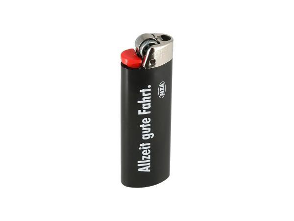 10069743 BIC-Feuerzeug, schwarz - mit SIMSON-Logo + Schriftzug: Allzeit gute Fahrt - Bild 1