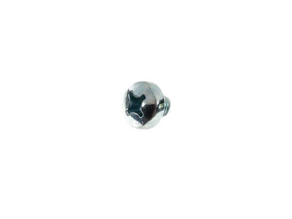Oval head screw, cross recess M6x6 - DIN7985