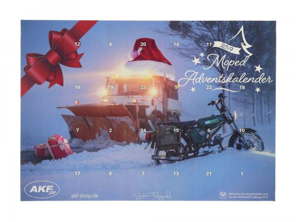 10069678 Adventskalender 2019 - Moped S51, Querformat - Bild 1
