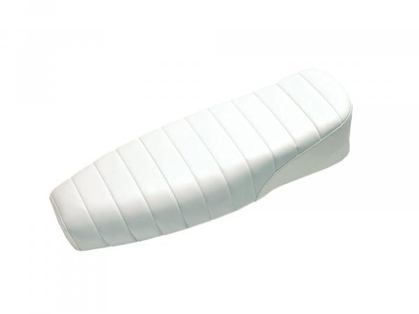 Bench structured, white without lettering - for Simson S50, S51, S70 Enduro