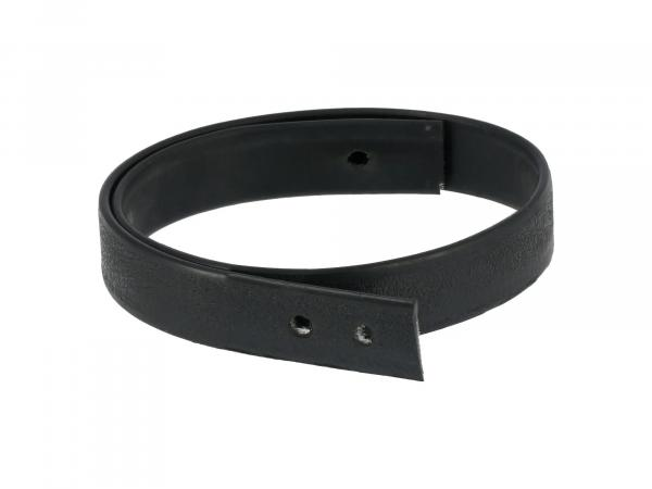 Retaining strap for bench in black, material rubber