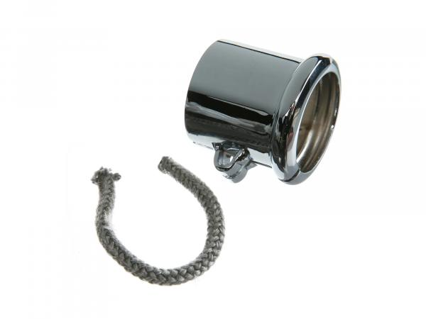 Clamp with bead for exhaust, Ø=40mm, chrome-plated suitable for BK350