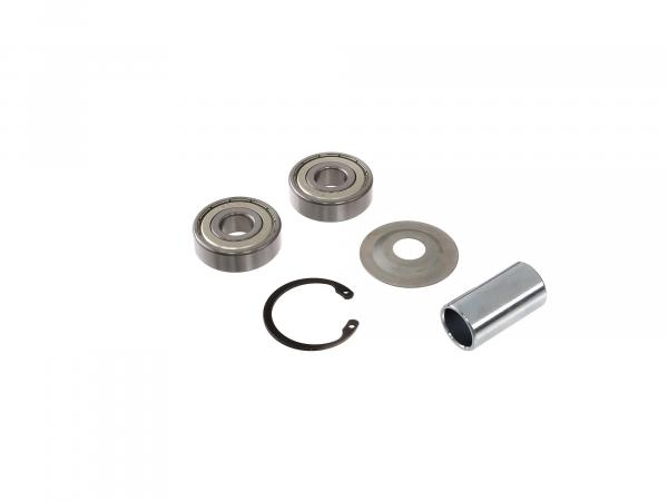Set of ball bearings + accessories (front and rear hub - drum brake type) - for MZ ETZ125, ETZ150