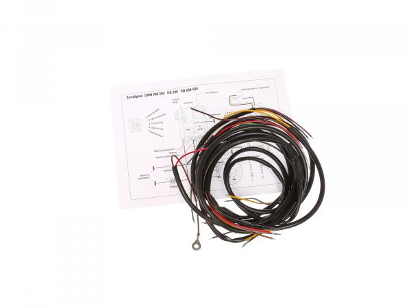Cable harness suitable for DKW KM 200, KS200, SB200 (+circuit diagram)