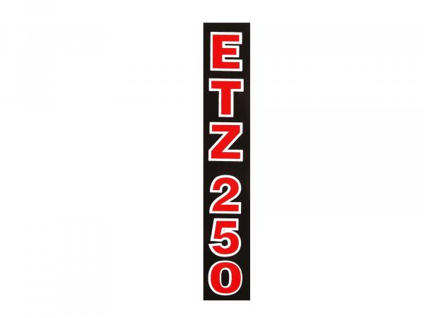 Writing (foil) ETZ250 Black with red writing (for telescopic fork)