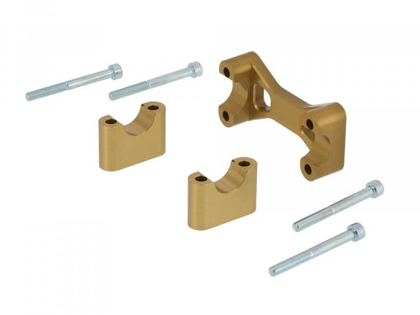 10070559 AKF Tuning-Lenkeraufnahme, Gold eloxiert - für Simson S50, S51, S70, Enduro - Bild 1