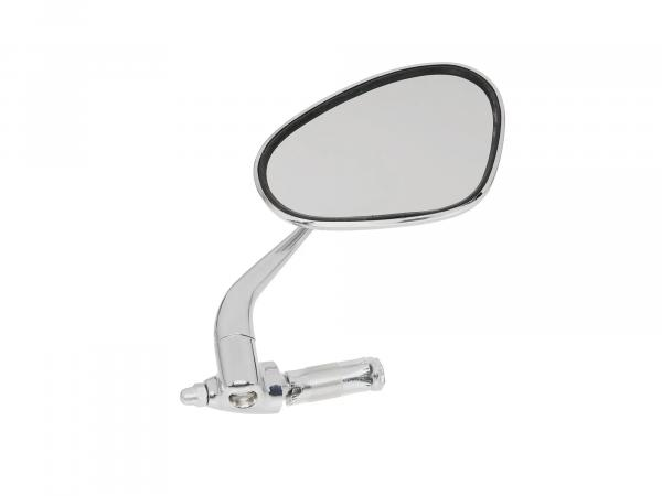 Mirror right, handlebar mounting, short bar, solid design