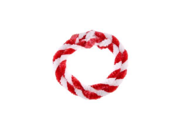 Nabenputzringe Rot/Weiß (Set 1x 25cm + 1x 30cm für Fahrrad)