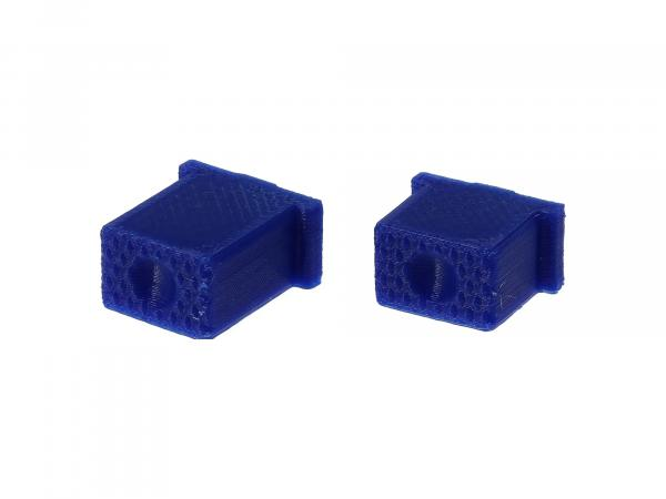 10069574 Set: Knopf für Hupe & Lichthupe 3D, Blau, Doppeltaster - für S51, S70, SR50, SR80 - MZ ETZ - Bild 1