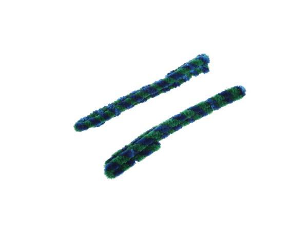 10057171 Nabenputzringe Grün/Blau (Set 2x 56cm für Moped, Mokick) - Bild 1