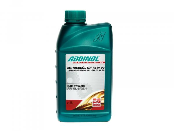 ADDINOL GH 75W 90, gear oil, (SAE class 90) semi-synthetic, 1 L can.