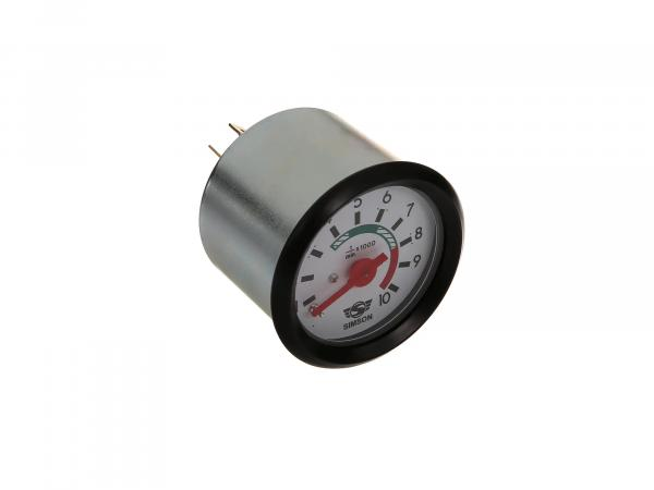 Rev counter 12V with illumination and ground connection ø 60mm