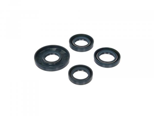 Set: Oil seals motor complete, blue, double lip - for Simson S51, S70, S53, S83, KR51/2 Schwalbe, SR50, SR80