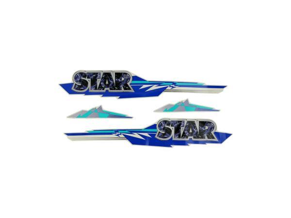 10004721 Set: Klebefolien STAR 4-teilig - Simson SRA 25/50 Star - Bild 1