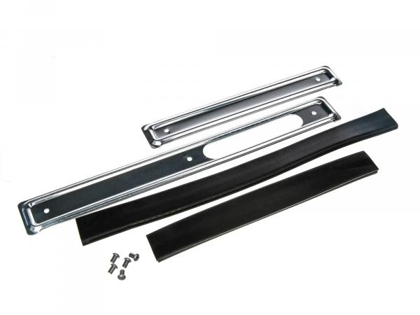 Set: Skirting boards right + left, galvanized steel with piping and rivets - Simson KR51 Schwalbe