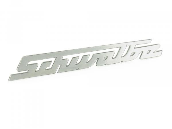 "Lettering ""Schwalbe"" for knee plate, polished aluminium - Simson KR51 Schwalbe"