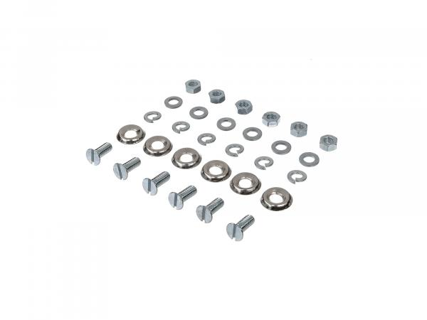 Set: Mounting parts for running board - for Simson KR51 Schwalbe