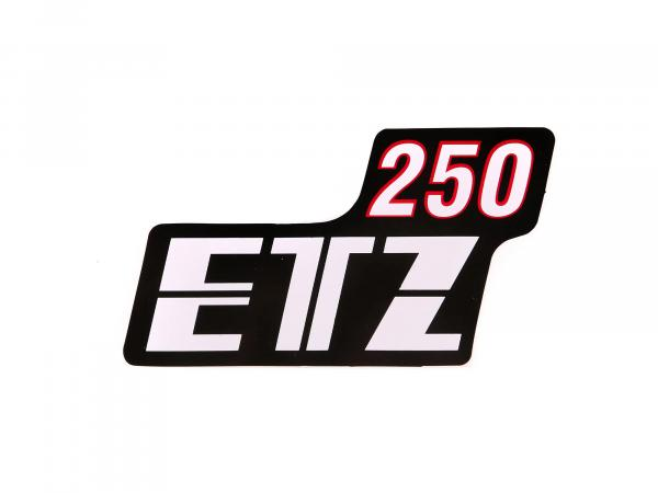Writing (foil) ETZ250 for side cover