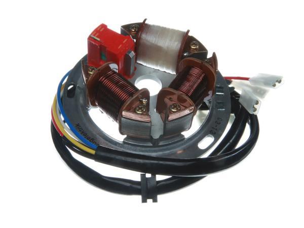 Grundplatte 8305.1/1-100, 6V Elektronik (35/21W Bilux) - Simson S51, S70, KR51/2 Schwalbe