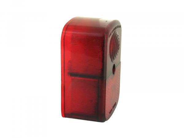 Rear light cap red, angular - Simson KR51/1 Schwalbe, SR4-1 Spatz, SR4-2 Star, SR4-3 Sperber, SR4-4 Habicht