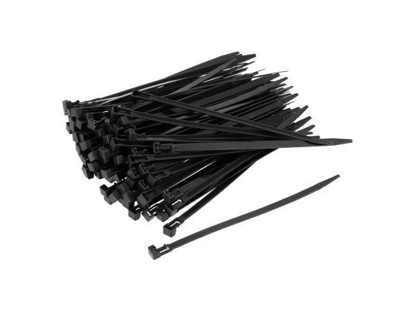 10069653 Set: 100x Kabelbinder wieder lösbar 7,5 x 200mm schwarz - Bild 1