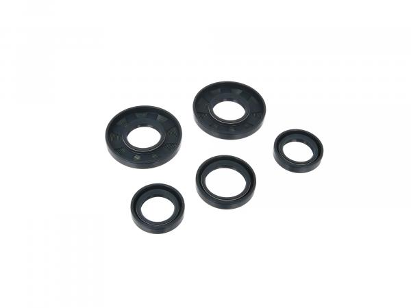 Set: shaft seals motor, blue, double lip - for MZ TS125, TS150