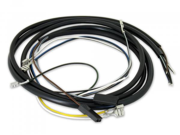 Wire harness for switch combination 6V with headlight flasher, flat handlebar - Simson S51, S70