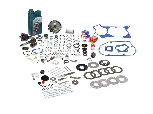 AKF Basis-Bausatz für Tuning-Motor, mit langem 5-Gang Getriebe und 5-Lamellen Kupplung - für Simson S50, S51, S53, S70, S83, KR51/2 Schwalbe, SR5