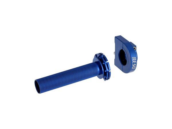 10070595 Gasgriff RESO, Blau eloxiert, für Ø22mm-Lenkerrohr - Bild 1