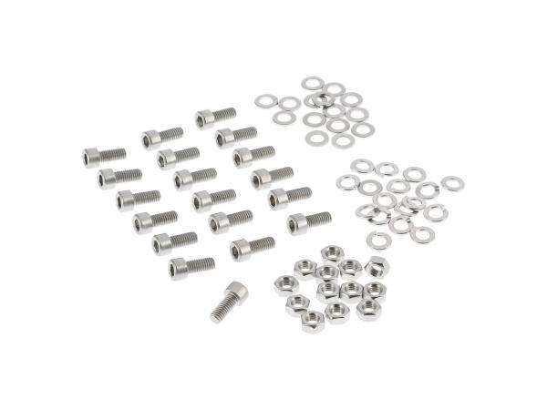 10001238 Set: Zylinderschrauben, Innensechskant in Edelstahl für Sitzbank, Verkleidung, Trittbretter SR50, SR80 - Bild 1