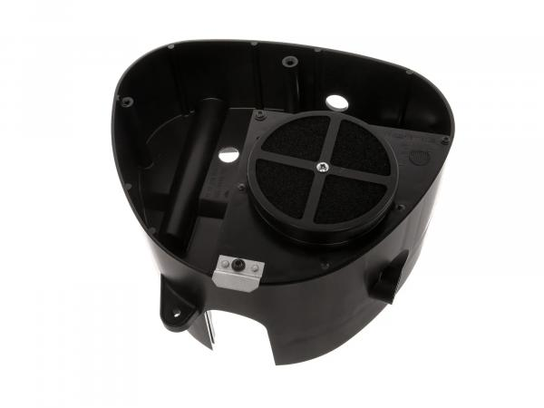Airbox - Gehäusemittelteil mit FILU Tuningluftfilter, Auslass Ø26mm - Simson S50, S51, S53, S70, S83