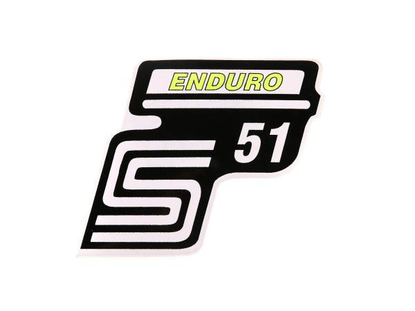 """Klebeschriftzug - """"S51 Enduro"""" Neongelb"""