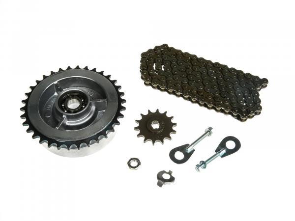 Small sprocket drive set (chain set) - for Simson KR51/1 Schwalbe