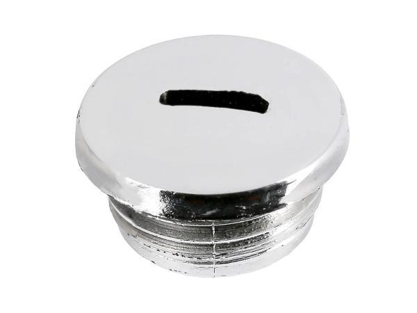 10002210 Verschlussschraube für Getriebedeckel im Chromlook, ohne O-Ring - Bild 1