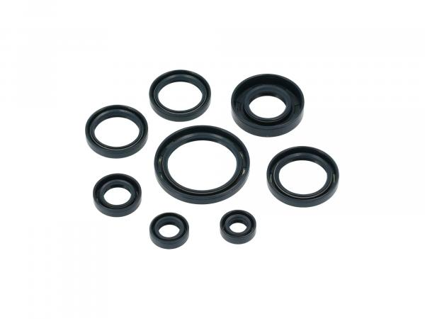Set: Oil seals, 8 pieces, blue, double lip - AWO 425 Touren
