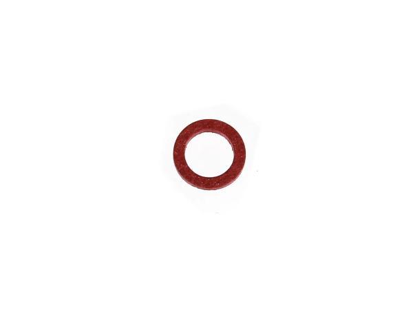 Dichtung Ø10x14 (Fiber) für Benzinhahnsieb, für Schwimmernadelventil - für Simson S51, S50, SR50, Schwalbe, SR4
