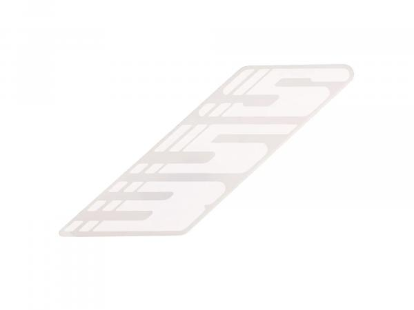 Adhesive foil - right (lettering) White S53E