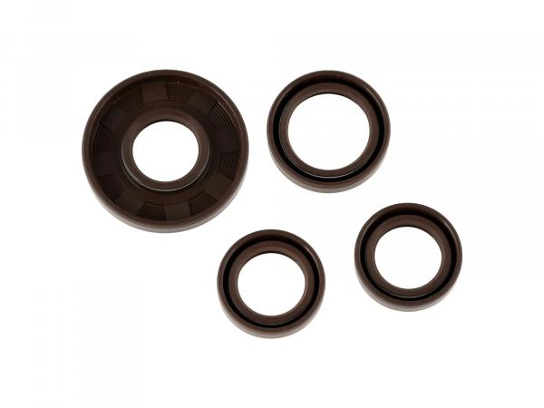 Set: Oil seals motor, brown, double lip - for MZ ETZ125, ETZ150