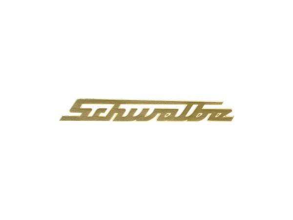 """10070236 Schriftzug """"Schwalbe"""" für Knieblech, Alu goldfarben - Simson KR51 Schwalbe - Bild 1"""